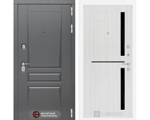 Двери Лабиринт входная дверь labirint Платинум 02 Сандал белый