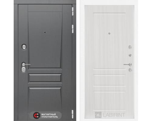 Двери Лабиринт входная дверь labirint Платинум 03 Сандал белый