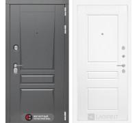 Двери Лабиринт входная дверь labirint Платинум 03 (цвет Белый софт)