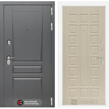 Входная дверь labirint Платинум 04 Беленый дуб
