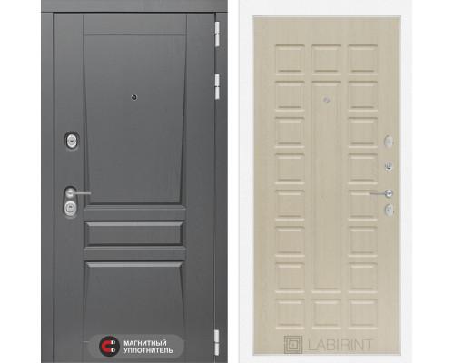 Двери Лабиринт входная дверь labirint Платинум 04 Беленый дуб