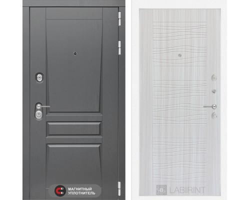 Входная дверь labirint Платинум 06 Сандал белый