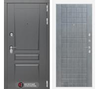 Входная дверь labirint Платинум 09 Лен сильвер грей