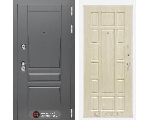 Входная дверь labirint Платинум 12 Беленый дуб