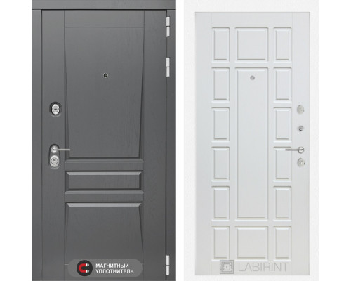 Входная дверь labirint Платинум 12 Белое дерево
