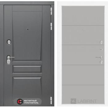 Входная дверь labirint Платинум 13 Грей софт