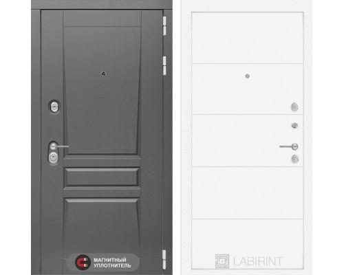 Входная дверь labirint Платинум 13 (цвет Белый софт)
