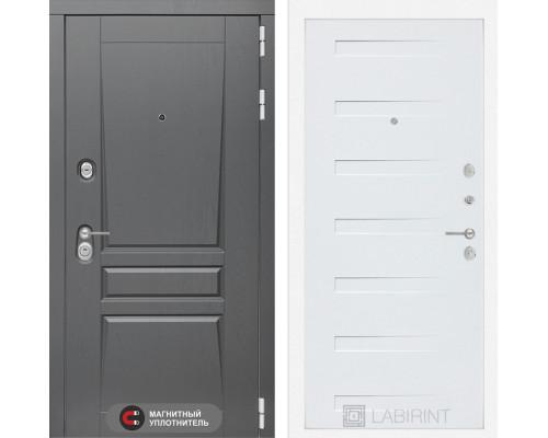 Входная дверь labirint Платинум 14 Дуб кантри белый горизонтальный