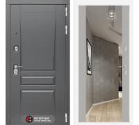 Входная дверь labirint Платинум с Зеркалом Максимум Грей софт