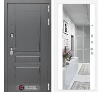 Двери Лабиринт входная дверь labirint Платинум с Зеркалом Максимум (цвет Белый софт)