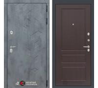 Входная дверь Бетон 03 (цвет Орех премиум)