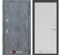 Входная дверь Бетон 06 (цвет Белое дерево)