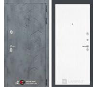 Входная дверь Бетон 07 (цвет Белое дерево)