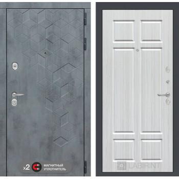 Входная дверь Бетон 08 (цвет Кристалл вуд)