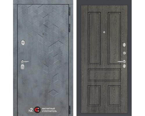 Входная дверь Бетон 10 (цвет Дуб филадельфия графит)