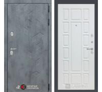 Входная дверь Бетон 12 (цвет Белое дерево)