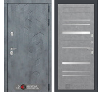 Двери Лабиринт входная дверь Labirint Бетон 20 (цвет Бетон светлый, зеркальные вставки)