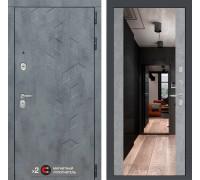 Входная зеркальная дверь labirint Бетон с зеркалом Максимум (цвет Бетон светлый)