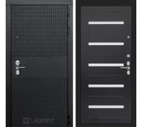 Входная дверь BLACK 01 - Венге, стекло белое