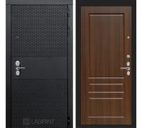 Входная дверь BLACK 03 - Орех бренди