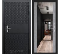 Входная дверь BLACK с зеркалом Максимум - Бетон светлый