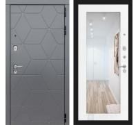 Двери Лабиринт входные двери Лабиринт Космо с зеркалом 18 (цвет Белое дерево)(dveri labirint cosmo)