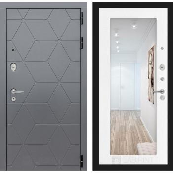 Входная дверь labirint COSMO с зеркалом 18 (цвет Белое дерево)