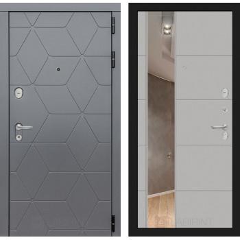 Входная дверь Labirint COSMO с зеркалом 19 (цвет Грей софт)