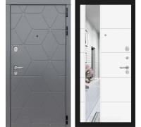 Двери Лабиринт входные двери Лабиринт Космо с зеркалом 19 (цвет Белый софт)(dveri labirint cosmo)