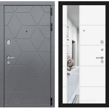 Входная дверь Labirint COSMO с зеркалом 19 (цвет Белый софт)