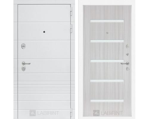 Входная дверь Labirint Трендо 01 Сандал белый