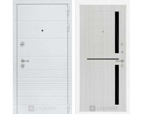 Входная дверь Labirint Трендо 02 Сандал белый