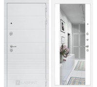 Входная дверь Labirint Трендо с Зеркалом Максимум Белый софт