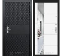 Входная дверь BLACK с зеркалом 19 - Белый софт