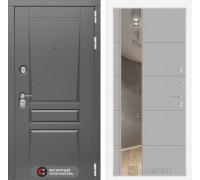 Входная дверь labirint Платинум с Зеркалом 19 Грей софт