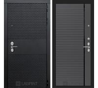 Входная дверь BLACK 22 - Графит софт, черная вставка