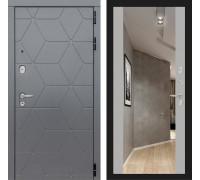 Входные двери с зеркалом Входная дверь Labirint COSMO с зеркалом Максимум (цвет Грей софт с зеркалом)