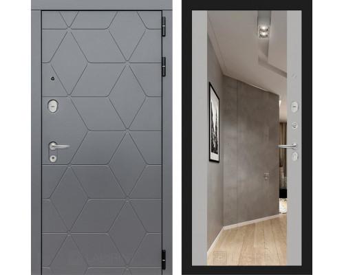 Входная дверь в квартиру Labirint COSMO с зеркалом Максимум (цвет Грей софт с зеркалом)