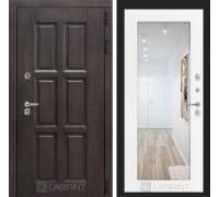 Входная дверь с терморазрывом Лондон с зеркалом 18 - Белое дерево
