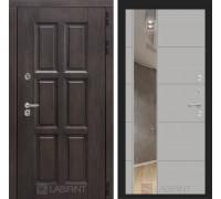 Входная дверь с терморазрывом Лондон с зеркалом 19 - Грей софт