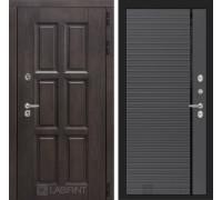 Входная дверь с терморазрывом Лондон 22 - Графит софт, черная вставка