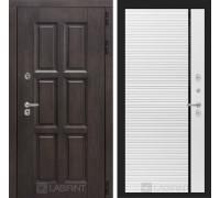 Входная дверь с терморазрывом Лондон 22 - Белый софт, черная вставка