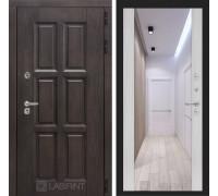 Входная дверь с терморазрывом Лондон с зеркалом Максимум - Сандал белый