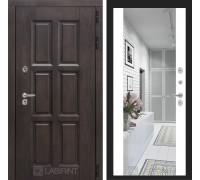 Входная дверь с терморазрывом Лондон с зеркалом Максимум - Белый софт