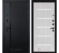 Входная дверь PIANO 01 - Сандал белый, стекло белое