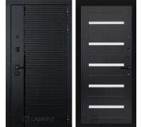 Входная дверь PIANO 01 - Венге, стекло белое