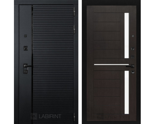 Входная дверь PIANO 02 - Венге, стекло белое