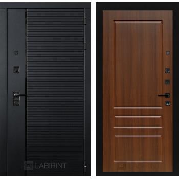 Двери Лабиринт входные двери Лабиринт Пиано  03 - Орех бренди(dveri labirint piano)