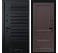 Двери Лабиринт входные двери Лабиринт Пиано  03 - Орех премиум(dveri labirint piano)