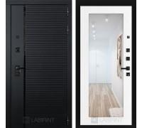 Входная дверь PIANO с зеркалом 18 - Белое дерево